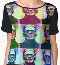 Frankenstein Pop Art Women's Chiffon Top
