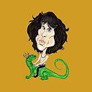 Psychedelische Rock-Legende-Karikatur-Zeichnung von MMPhotographyUK