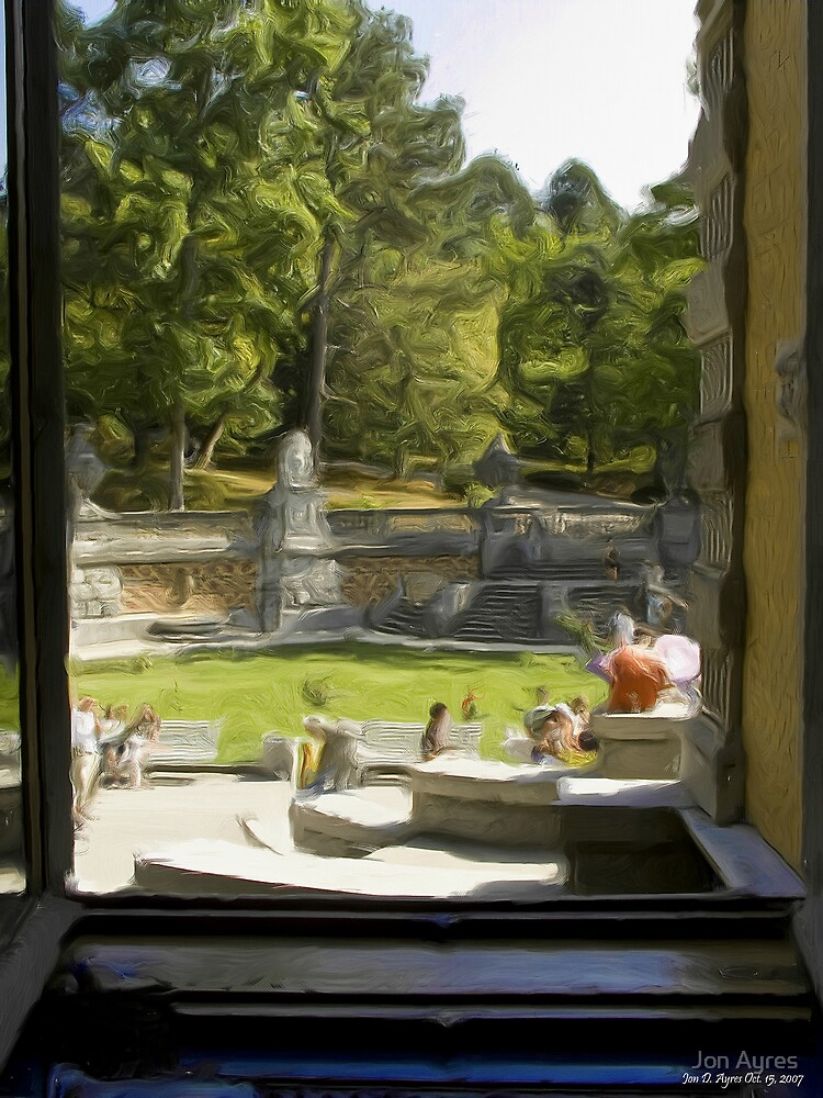 Looking out a rea window of the palace by Jon Ayres