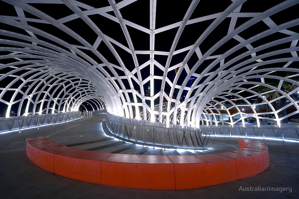 Webb Bridge, Melbourne by AustralianImagery