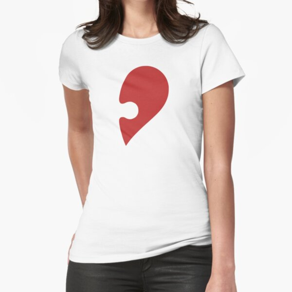 Puzzle Pieces Love Heart Fitted T-Shirt