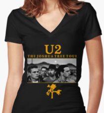 the joshua tree V Women's Fitted V-Neck T-Shirt