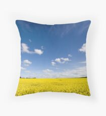 Canola / Rape Seed Field Throw Pillow