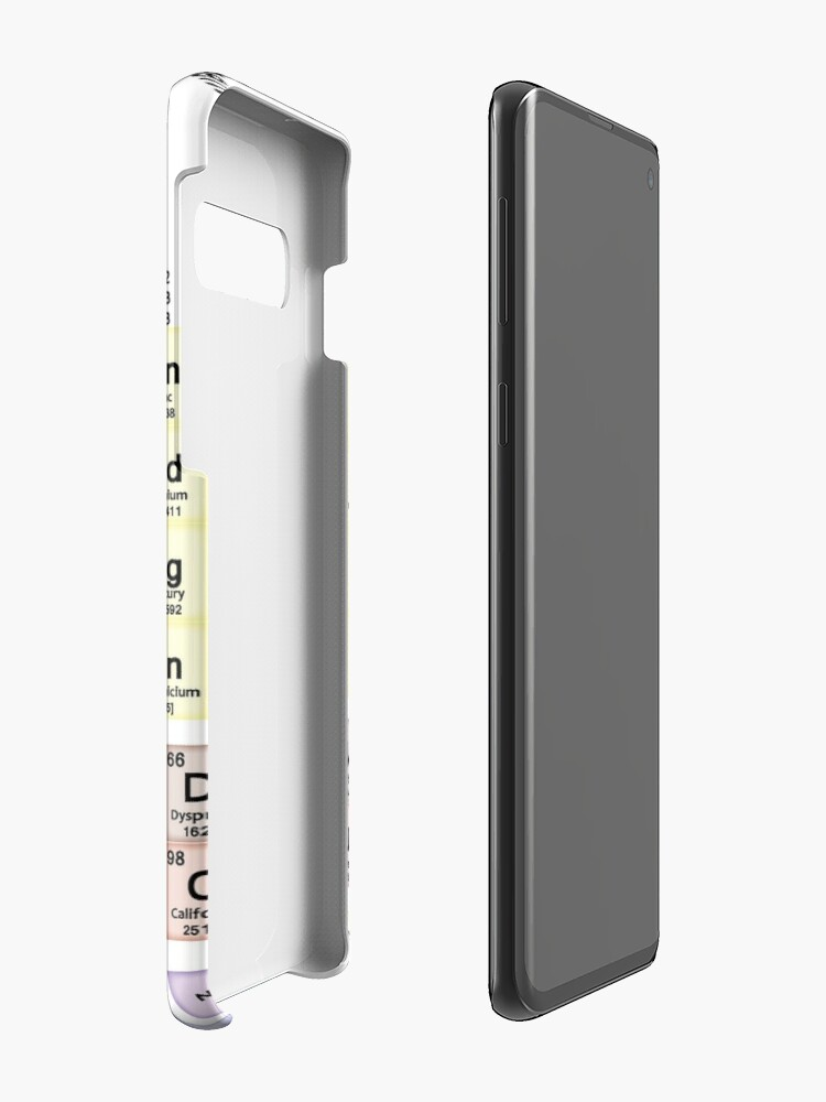 Vista alternativa de Funda y vinilo para Samsung Galaxy Tabla periódica con todos los 118 nombres de elementos