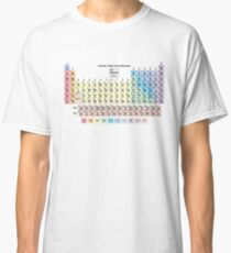 Periodic Table with all 118 Element Names Classic T-Shirt