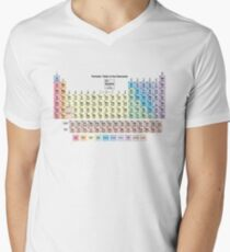 Periodic Table with all 118 Element Names V-Neck T-Shirt
