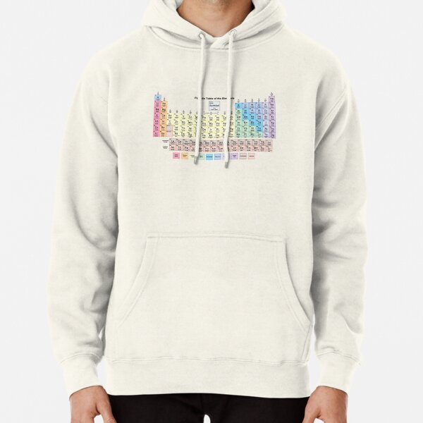 Periodic Table with all 118 Element Names Pullover Hoodie