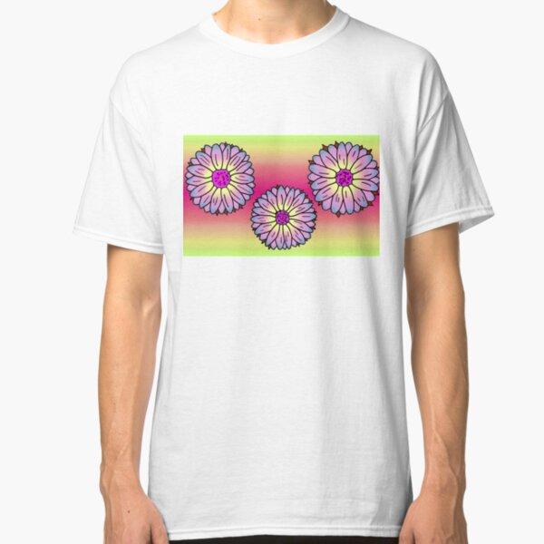 Retro Hawaiian Pink Flowers Classic T-Shirt