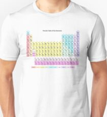 Muted Colors Periodic Table Unisex T-Shirt