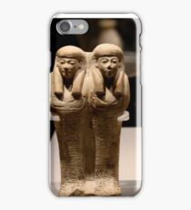 Egyptian sculptures iPhone Case/Skin