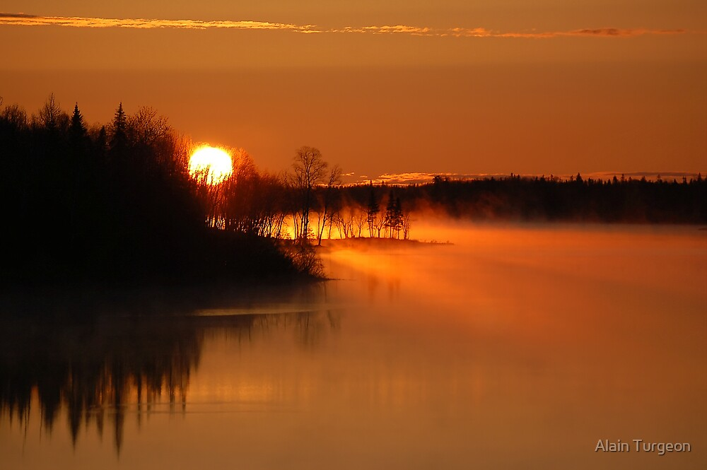 River in fire by Alain Turgeon