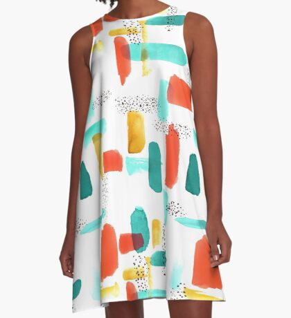 Mod Spots & Brushstrokes A-Line Dress