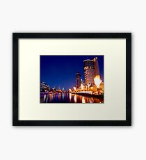 Crown Casino Fireshow, Melbourne Framed Print