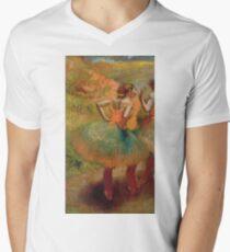 Edgar Degas - Dancers Wearing Green Skirts Mens V-Neck T-Shirt