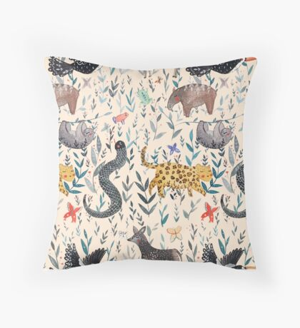 Rainforest Jam Throw Pillow