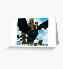 Toothless watercolor/ Desdentao acuarela Greeting Card