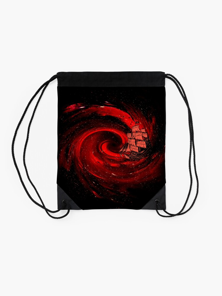 Alternate view of Journey to the Edge of the Universe Drawstring Bag