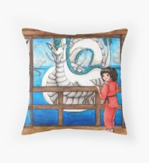 Spirited Away Watercolor/ Acuarela El viaje de Chihiro Throw Pillow