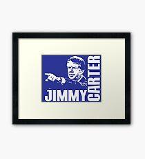 JIMMY CARTER Framed Print
