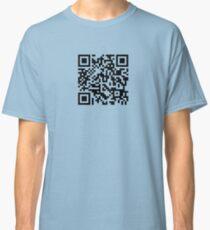 Barcode Rickroll! (black) Classic T-Shirt