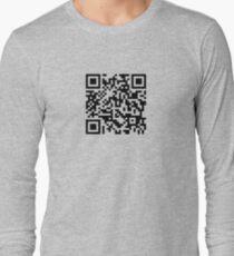 Barcode Rickroll! (black) T-Shirt