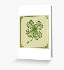 Vintage lucky clover Greeting Card