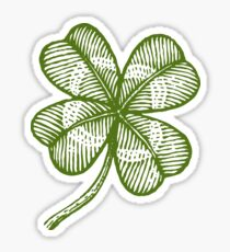 Vintage lucky clover Sticker