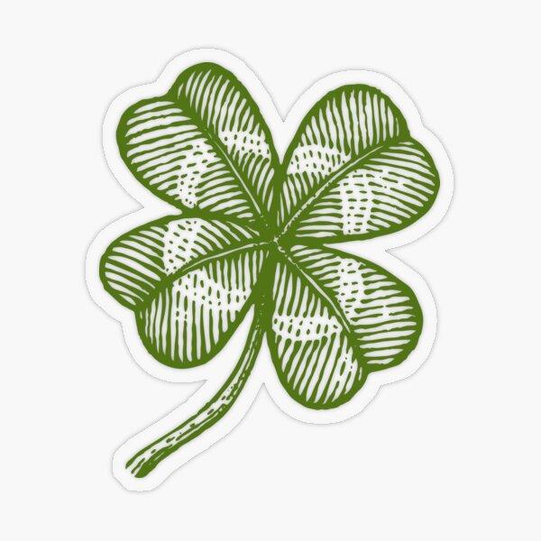 Shamrock stickers,4 Irish Ireland Clover decal Lucky Chance Car Vinyl decals