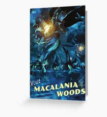 Macalania Woods [FFX] - Vintage Travel Poster Greeting Card