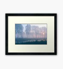 Mystic sunrise Framed Print
