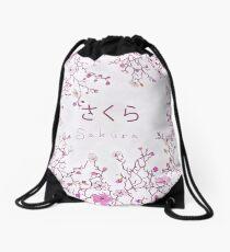 Japanese Sakura Blossom Tile Drawstring Bag
