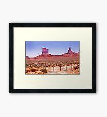 RT 14 - Monument Valley - Arizona/Utah Framed Print