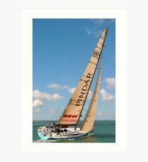 Racing Yacht Art Print