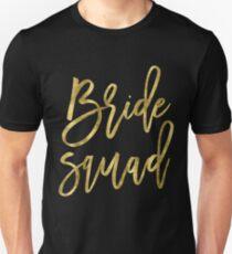 Bride Squad Gold Foil Effect Unisex T-Shirt