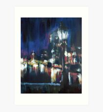 Paris at night part two Art Print