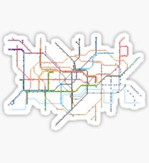 London Underground Pixel Map Sticker