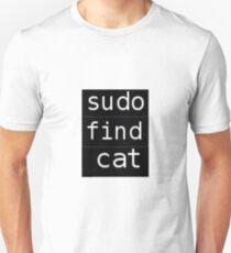 Sudo find cat Unisex T-Shirt