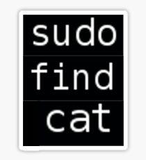 Sudo find cat Sticker