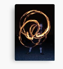 Fire-Dancing Girl Canvas Print