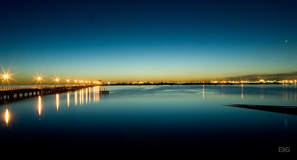 Dusk on the Bay by EliG
