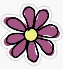 Magenta Purple Flower Sticker
