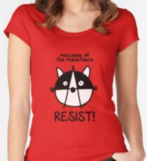 Join the raccoons of the resistance! Resist! Women's Fitted Scoop T-Shirt