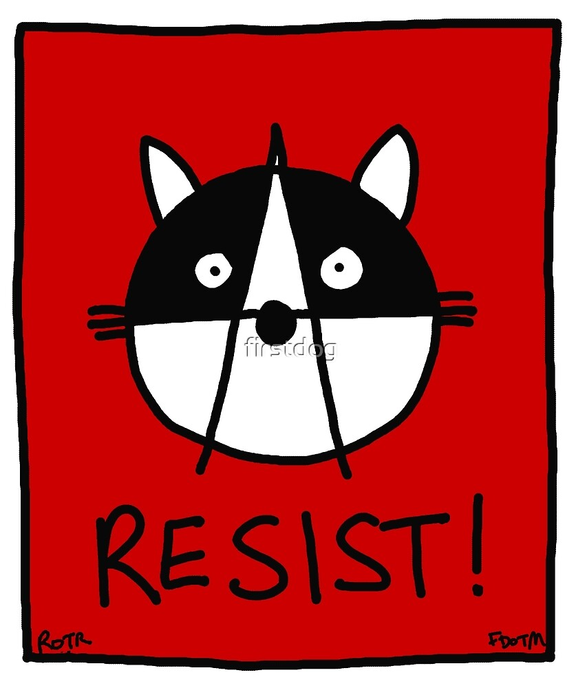 Resist! With the Raccoons of the Resistance by firstdog