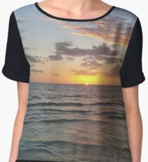 Tropical Sunset Chiffon Top