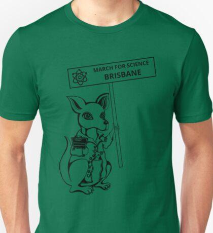 March for Science Brisbane – Kangaroo, black T-Shirt