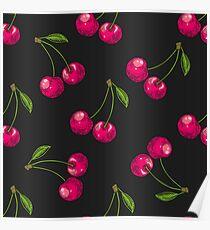 Berry color Hand drawn vector set. Fruit botany illustration. Berries engraving doodle sketch etch line. Raspberry. Dessert ingredient Poster