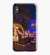 Crazy amount of xmas lights on this house iPhone Case/Skin