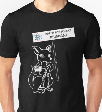 March for Science Brisbane – Kangaroo, white T-Shirt