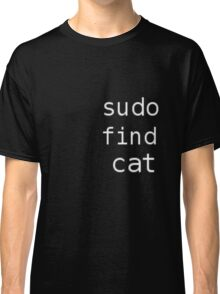 Sudo find cat Classic T-Shirt