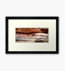 Wyatt on the Rocks Framed Print